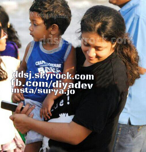Jyothika with her son Dev Surya - Rare/Unseen.
