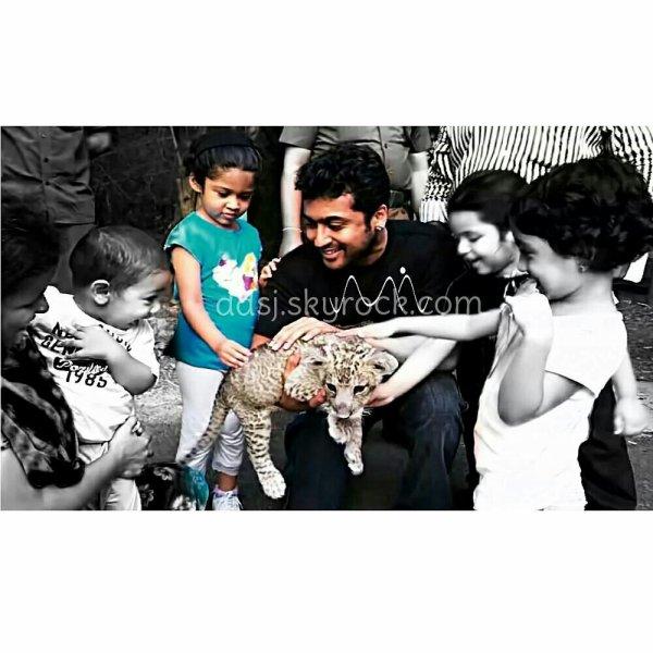 Surya with his daughter Diya - Rare/unseen