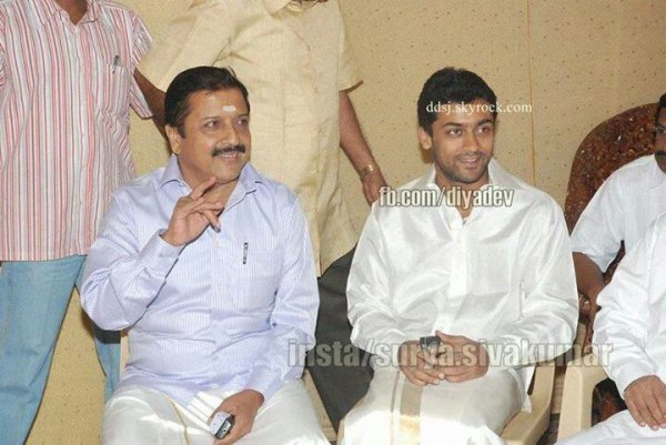 Surya and Jyothika at a wedding function. Rare/Unseen