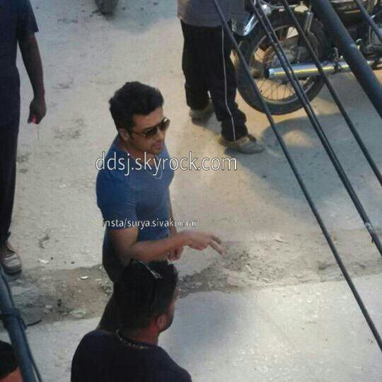 Surya at Masss shooting spot!