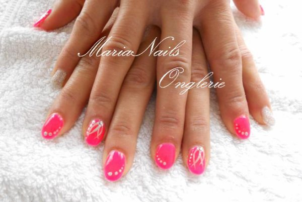 Ongle En Gel Rose Ongles En Gel 2017 Rose Ongles En Gel Rose