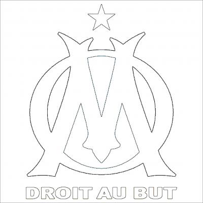Coloriage du logo de marseille coloriages - Logo de l olympique de marseille ...