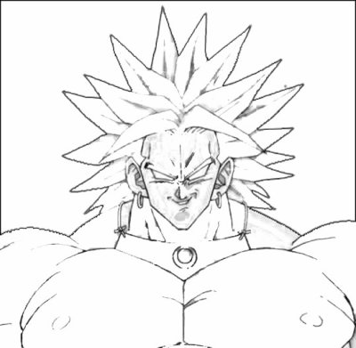 Coloriage de broly coloriages - Dessin facile de dragon ...