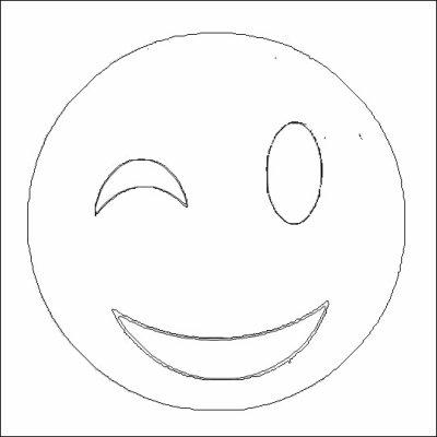 Coloriage du smiley clin d 39 oeil coloriages - Smiley coloriage ...