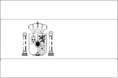 Coloriage du drapeau de l 39 espagne coloriages - Coloriage drapeau espagnol ...