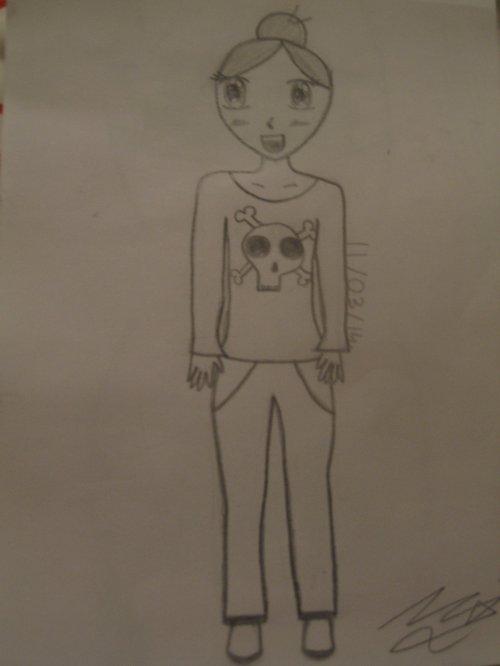 Comment dessiner 1 fille - Fille manga a dessiner ...