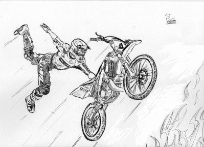 Dessin freestyle c un blog ou il y a de tou moto moto cross - Dessin de motocross ...