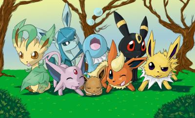 La ptite famille d 39 evoli pok mon johto - Pokemon famille d evoli ...
