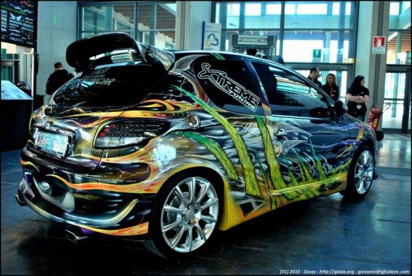 L 39 arri re du 206 la pr paration de la 306 show car for Garage opel orthez
