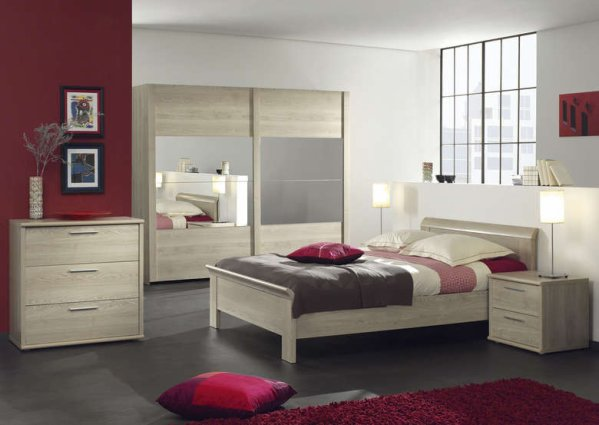 Elle est trop belle voici comment seras notre chambre tres bientot eterne - Chambre a coucher gris et rouge ...
