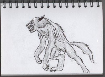 Dessin reproduit loup garou blog de mangadesin - Dessin loup garou ...