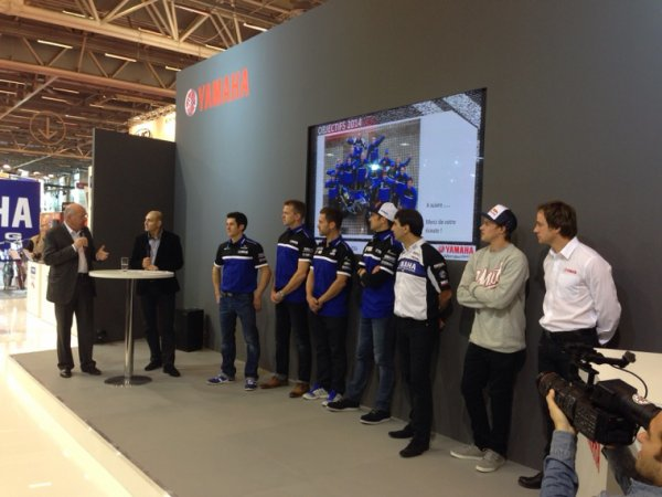 PR�SENTATION TEAM DAKAR 2014 YAMAHA FACTORY RACING - SALON DE LA MOTO � PARIS