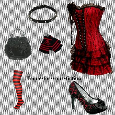 tenue 11 gothique pleins de tenues pour ta fiction. Black Bedroom Furniture Sets. Home Design Ideas