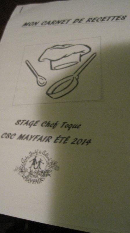 Stage de Toussaint : Chef toque