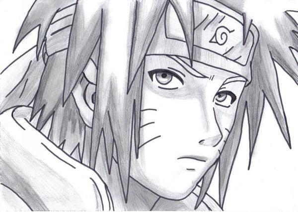 Comment dessiner le 4 hokage - Dessin naruto manga ...