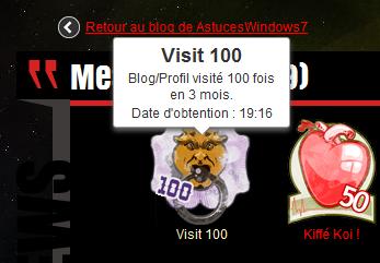 100 Visites : D�j� !