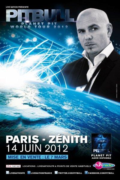 Pitbull en concert au Z�nith de Paris le 14 Juin 2012