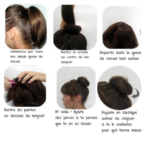 Cheveux 1 Tuto Le Chignon Donut Le Chigon Bun