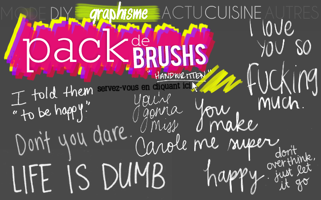 GRAPHISME : Pack de 10 brushs (handwritten)