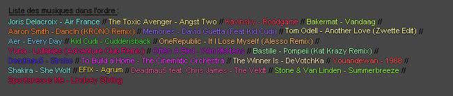 ACTUALITE : Playlist �t�