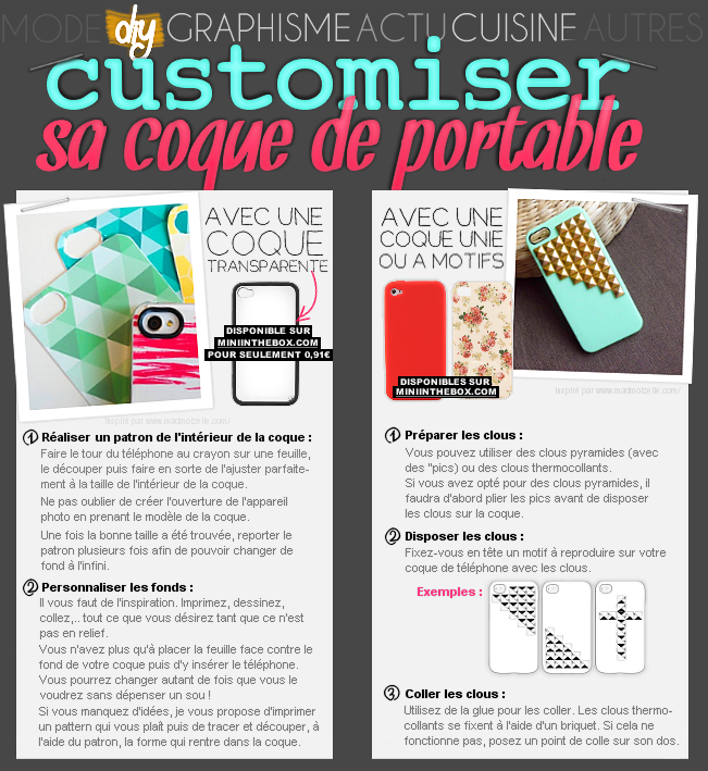 DIY : 2 fa�ons de customiser sa coque de portable