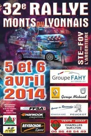 Rallye des monts du lyonnais 2014