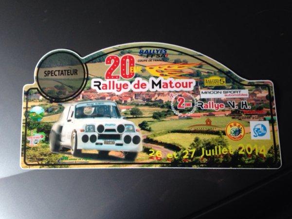 Rallye de matour 2014