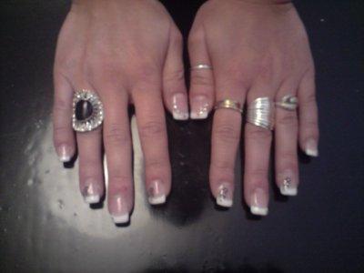 les ongles a ma blooonde gel uv avec french et deco konad blog de nailart51. Black Bedroom Furniture Sets. Home Design Ideas