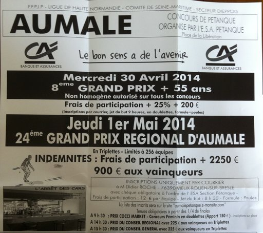 Grand Prix � Aumale : ( en poules )