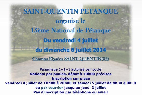 National de Saint-Quentin 2014