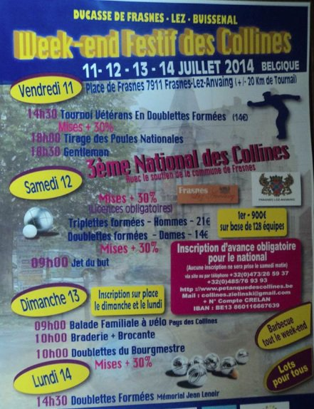 Week-end festif des collines 2014