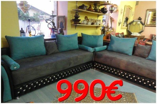 Canap capitonn marocain avec strass en promo 100 for Canape oriental