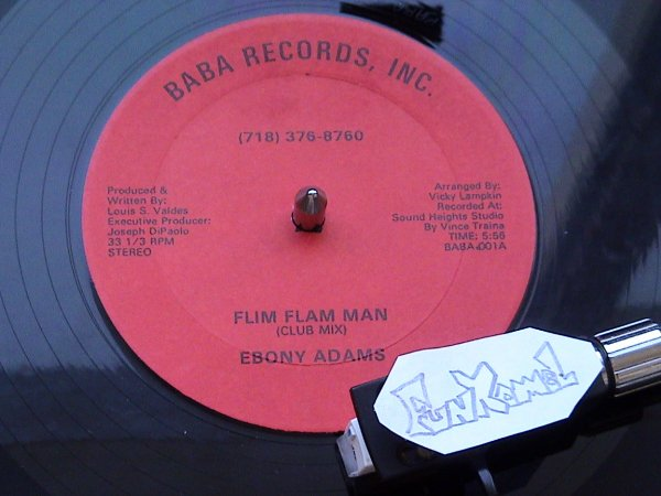 "EBONY ADAMS ""flim flam man"" 12"" US   ...EXCELLENT!!!!!"
