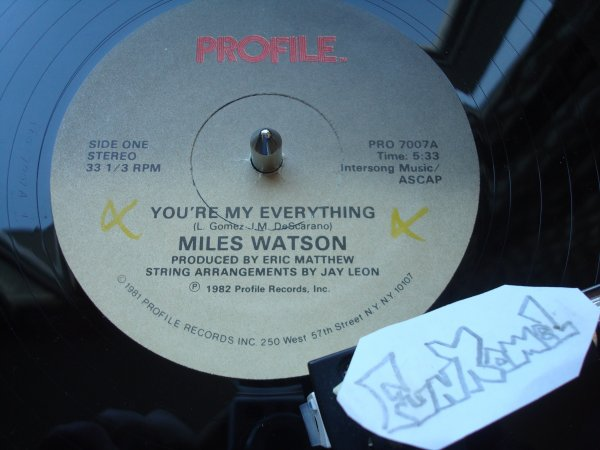 """MILES WATSON """"you're my everything"""" 12""""......EXCELLENT!!!!"""