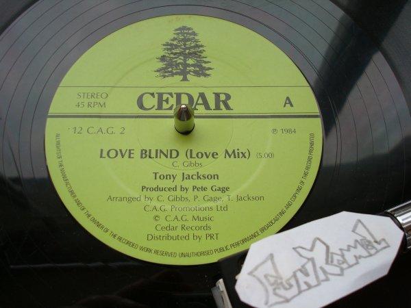 "TONY JACKSON  ""love blind"" 12""....excellent!"