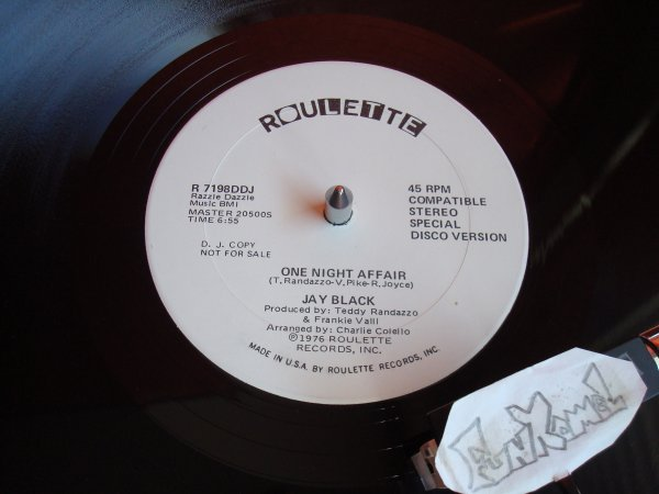 "JAY BLACK  ""one night affair"" 12""....EXCELLENT!!!!"