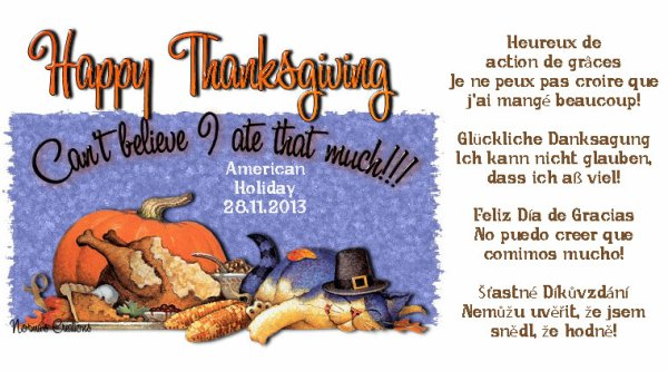 Happy Thanksgiving from America