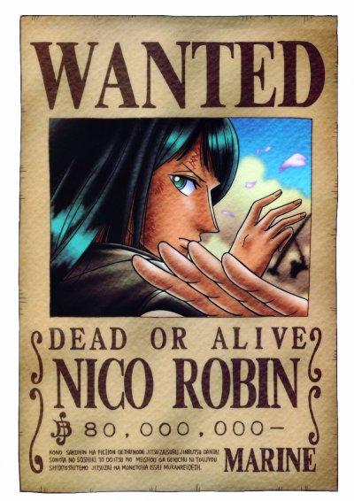 AVIS DE RECHERCHE : Nico Robin - One Piece, un simple manga