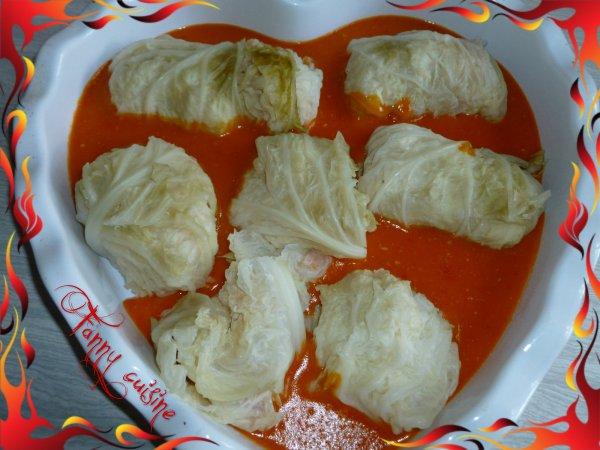 Chou farci la sauce tomate au thermomix fanny cuisine - Livre thermomix ma cuisine 100 facons ...