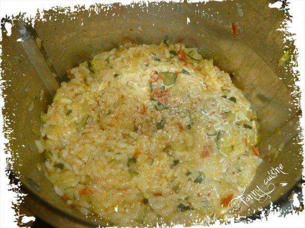Risotto courgettes tomates s ch es au thermomix - Risotto tomate thermomix ...