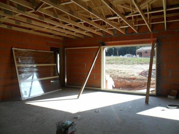 Notre baie vitr e en galandage blog de rivescapronfamily for Porte vitree a galandage