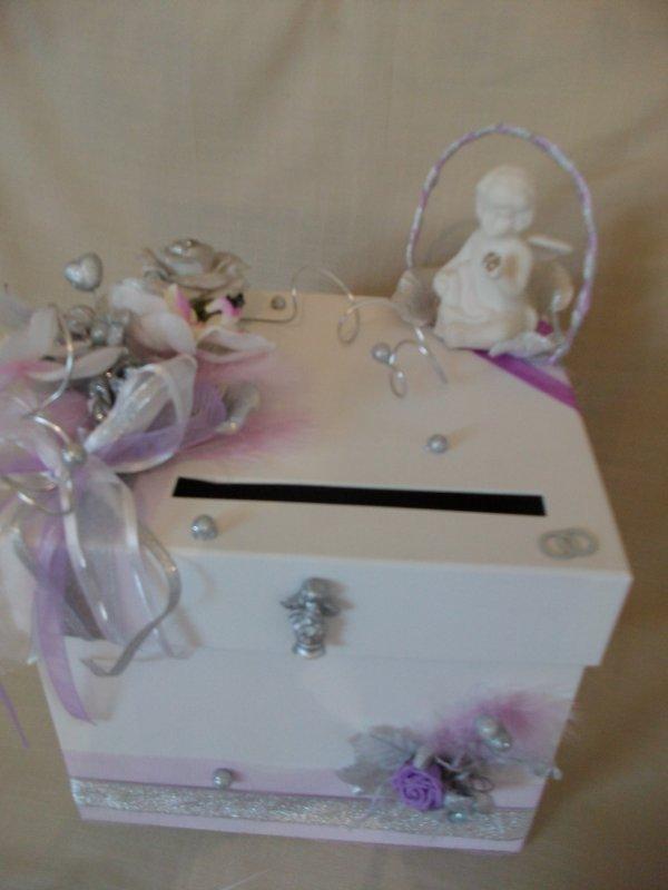 urne de baptême mariage thême ange -
