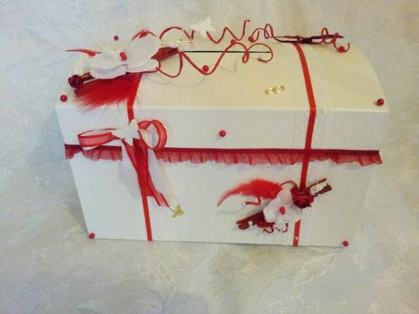 Deco Urne Mariage Rouge Et Blanc : Urne mariage blanc et rouge quot la copie n est pas un art