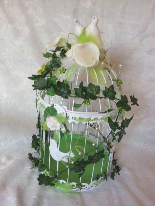 urne mariage cage oiseaux la copie n 39 est pas un art. Black Bedroom Furniture Sets. Home Design Ideas