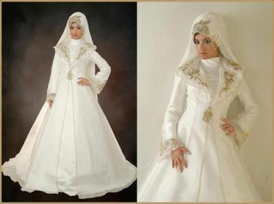 robe de mariée avec hijab - fleurs du monde