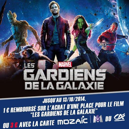 Jusqu'� 3� de rembours�s sur l'achat d'une place pour le film Les Gardiens de la Galaxie avec Skyrock Cashback !