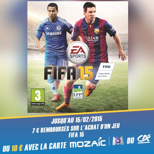 Fais toi rembourser jusqu'� 10� sur le jeu FIFA 15 avec l'appli Skyrock Cashback !