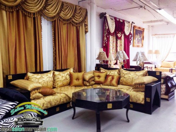 Une Cuisine Rouge :  salon marocain oriental  Top Salons Morocain Decoration Moderne
