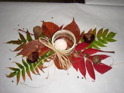 D co de table automne bougie mon petit album de - Idee deco table automne ...