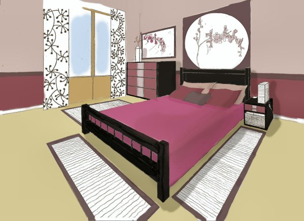 Beautiful Chambre En Perspective Frontale Images - Seiunkel.us ...